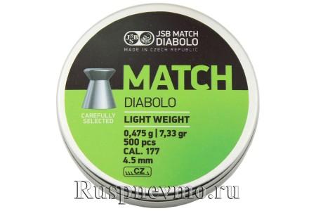 Пульки JSB Match Diabolo Green 500 шт