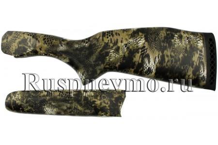 Приклад и цевье ИЖ-27 Камуфляж, резин. затыльник