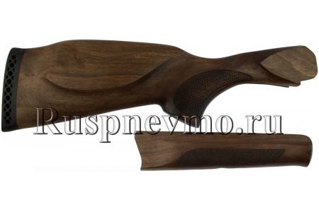 Приклад и цевье ИЖ-27 Орех резин. затыльник, Монте-Карло Левша