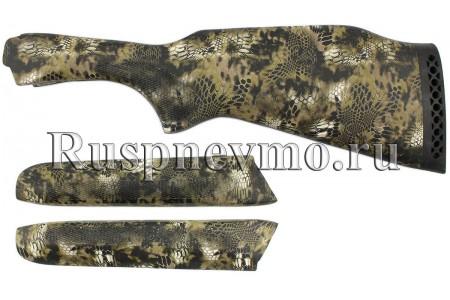 Приклад и цевье ТОЗ-34 Камуфляж резин. затыльник