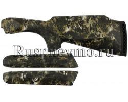 Приклад и цевье ТОЗ-34 Камуфляж резин. затыльник, Монте-Карло